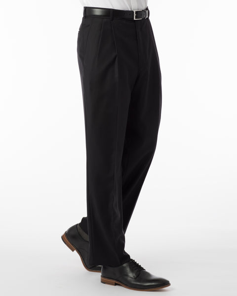 Ballin Pants - Manchester Super 120's 4 Harness Serge - Black
