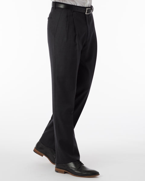 Ballin Pants - Manchester Super 120's 4 Harness Serge - Charcoal