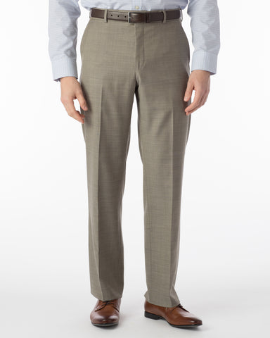 Ballin Pants - Dunhill Super 120's Sharkskin - British Tan