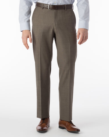 Ballin Pants - Soho Super 120's Sharkskin - Light Brown