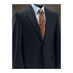 Hickey-Freeman Navy Solid Suit