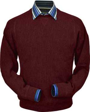 Peru Unlimited - Baby Alpaca Sweatshirt in Dark Burgundy
