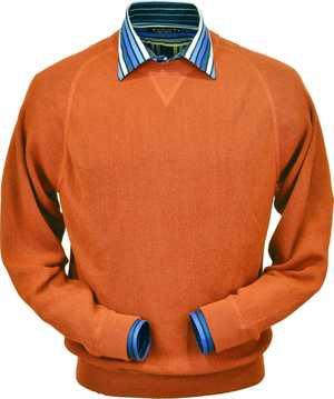 Peru Unlimited - Baby Alpaca Sweatshirt in Orange