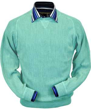 Peru Unlimited - Baby Alpaca Sweatshirt in Aqua Heather