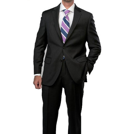 Peter Millar Justice Wool Pinstripe Suit in Charcoal