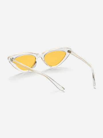 Cat Eye Flat / Lens Sunglasses