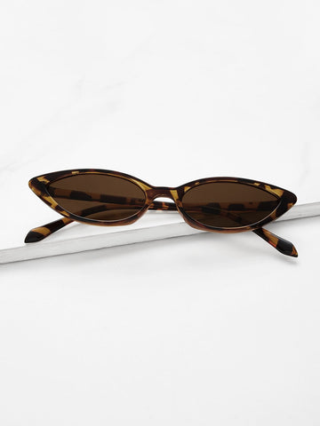 Skinny Leopard / Cat Eye Sunglasses