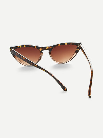 Leopard Frame / Cat Eye Sunglasses
