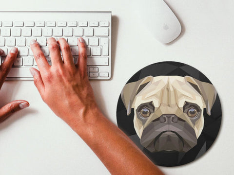 Image of Art Pug Mouse Pad -  Sport Pet Shop