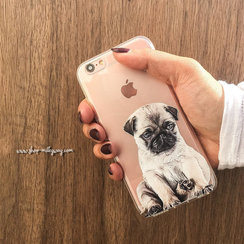 Image of Baby Pug - Clear Case Cover -  Sport Pet Shop
