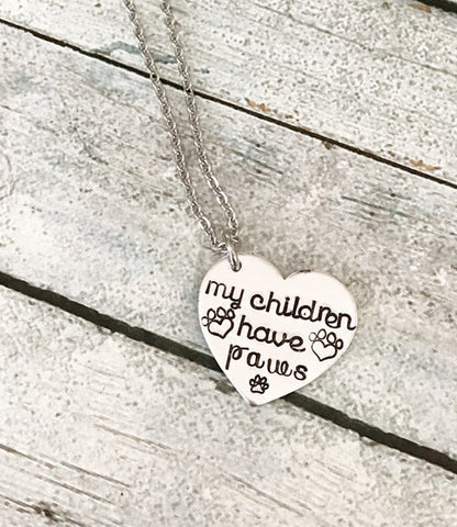 Image of Dog lover - Hand stamped necklace