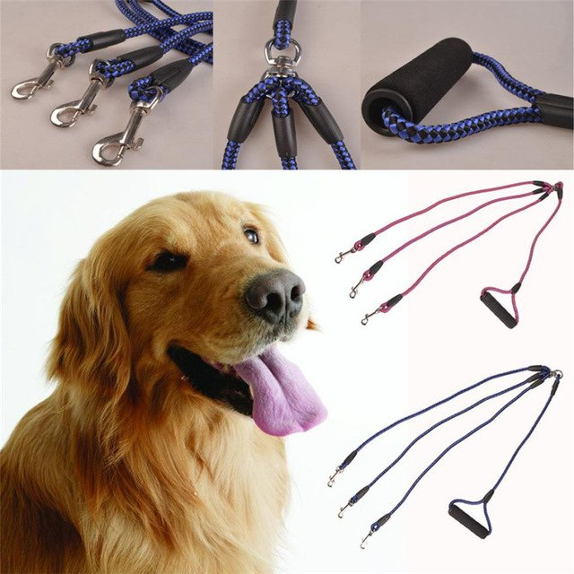 3 Heads In 1 Outdoor Walking  Dogs Leash -  Sport Pet Shop