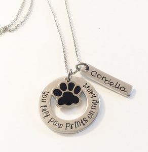 Hand stamped necklace - Pet memorial -  Sport Pet Shop