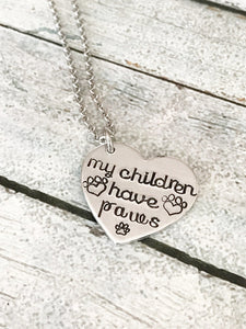 Dog lover - Hand stamped necklace -  Sport Pet Shop