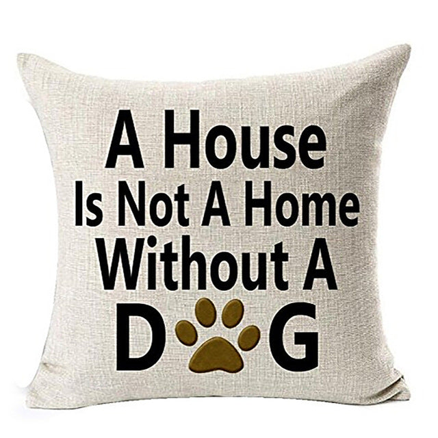 Dog Lover Cotton Linen Throw Pillow -  Sport Pet Shop