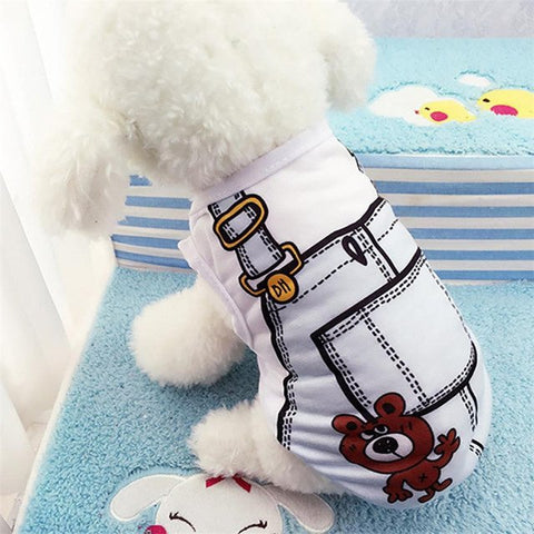 Cute Cat / Dog Vest Shirt Rompers
