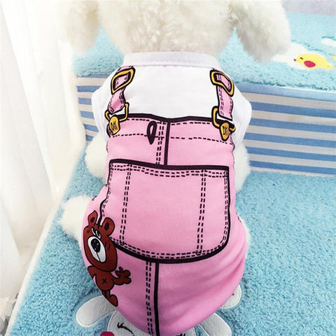 Image of Cute Cat / Dog Vest Shirt Rompers -  Sport Pet Shop