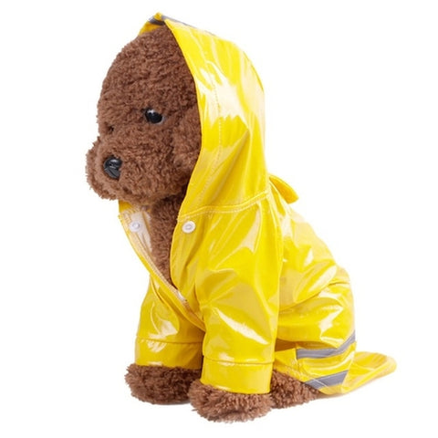 Dog Waterproof Raincoat Reflective Strip