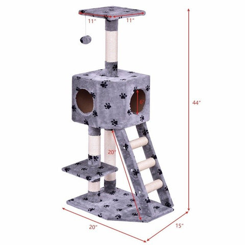 Image of Cat Tree Play / House Tower Bed -  Sport Pet Shop