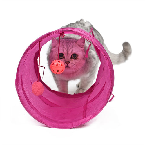 Cat Tunnel Play Toys Crinkle With Ring Bell -  Sport Pet Shop