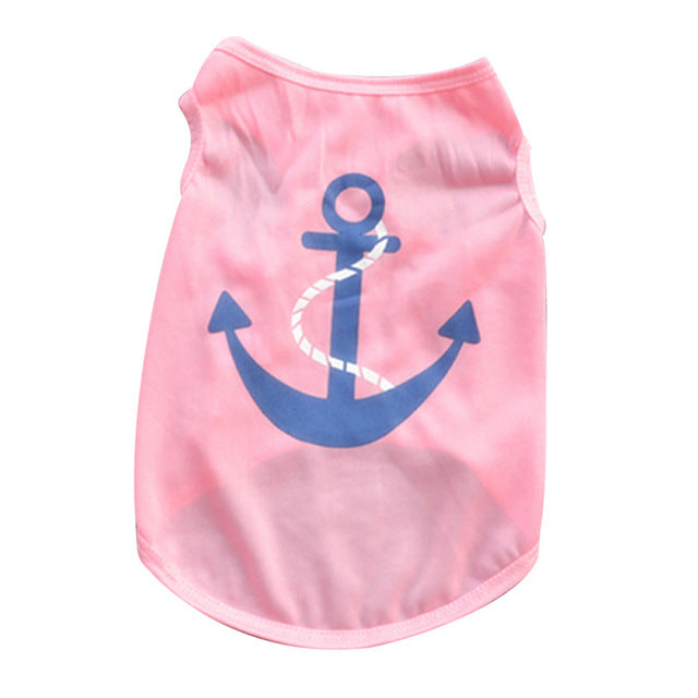 Summer Dog Clothes / Cute Lovely Anchors -  Sport Pet Shop