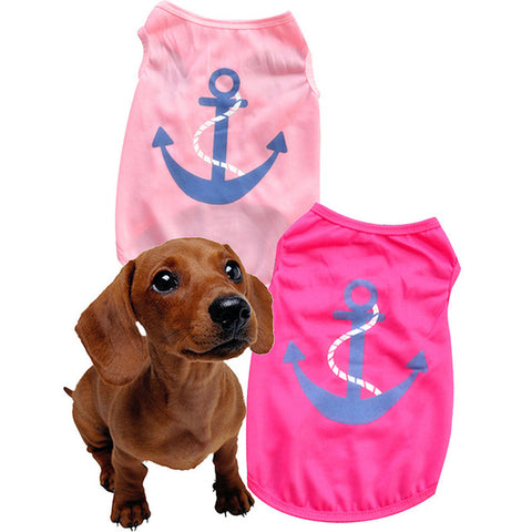 Summer Dog Clothes / Cute Lovely Anchors