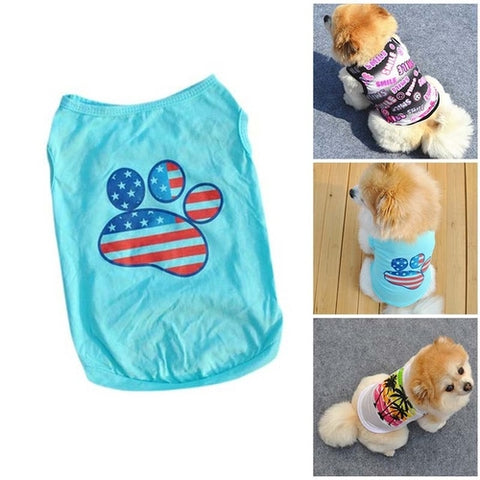 Image of Summer Small Dog/  Cats Clothes -  Sport Pet Shop