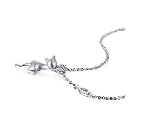 Pendant / Silver Jewelry Cat -  Sport Pet Shop