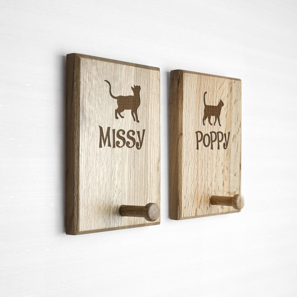 Personalised Cat Peg Hook -  Sport Pet Shop