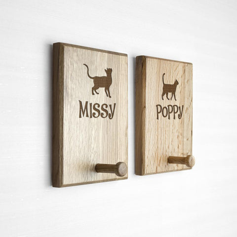 Image of Personalised Cat Peg Hook -  Sport Pet Shop