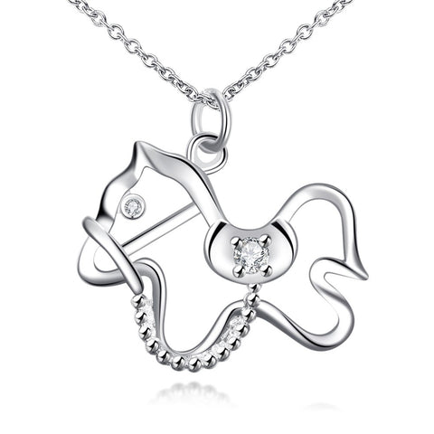 Image of 925 sterling silver jewelry dog tag pendant necklace -  Sport Pet Shop
