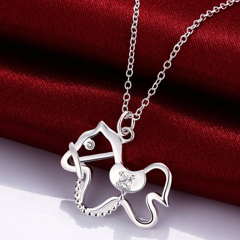 925 sterling silver jewelry dog tag pendant necklace