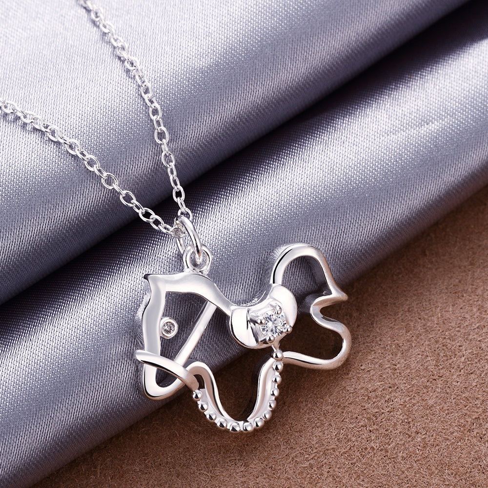 925 sterling silver jewelry dog tag pendant necklace -  Sport Pet Shop