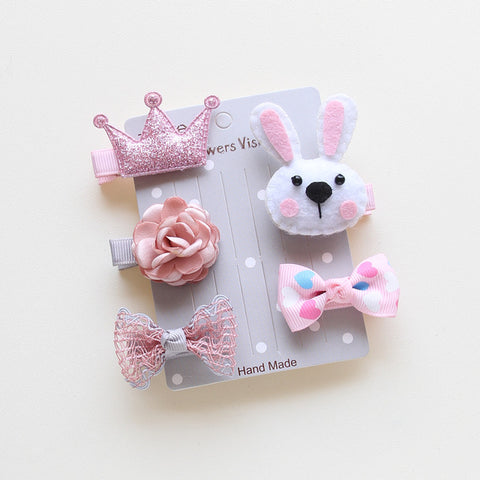 5pcs/Set Cute Pet Bows Hairpins -  Sport Pet Shop
