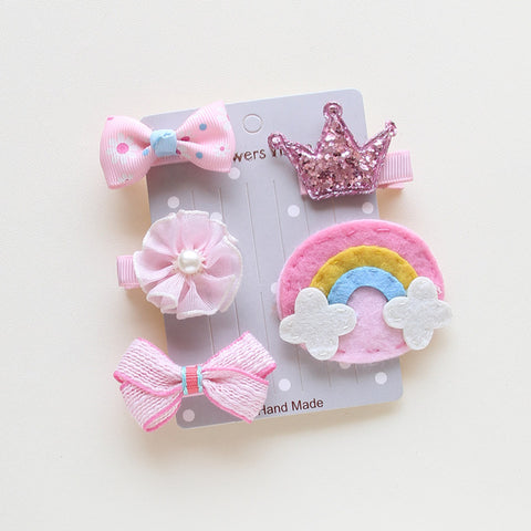 Image of 5pcs/Set Cute Pet Bows Hairpins -  Sport Pet Shop