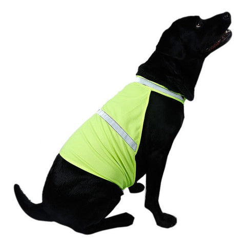 Fluorescent Waterproof Security Dog Reflective Vest Clothes