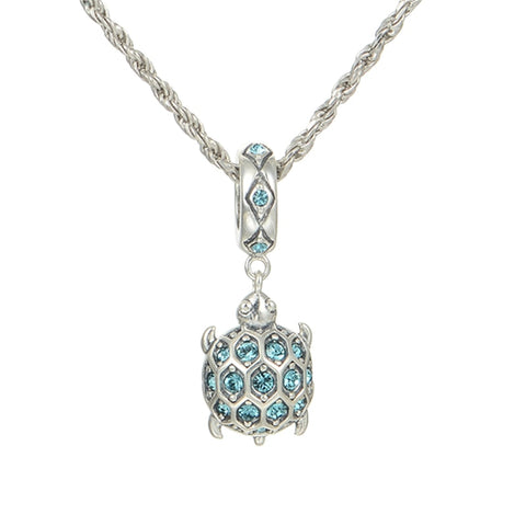 Crystal Sea Turtle Charm Pendant -  Sport Pet Shop