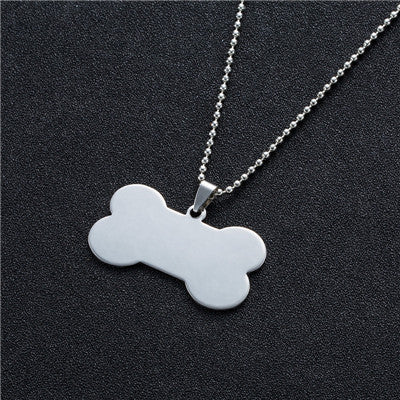 Stainless Steel Mens Tags Necklace -  Sport Pet Shop
