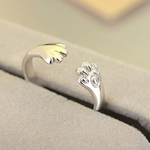 1PC Cute cat paw ring