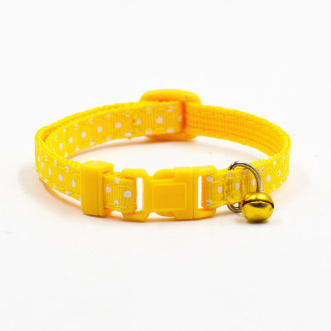 Image of Dot Printed Little Dog/Cat Collars -  Sport Pet Shop