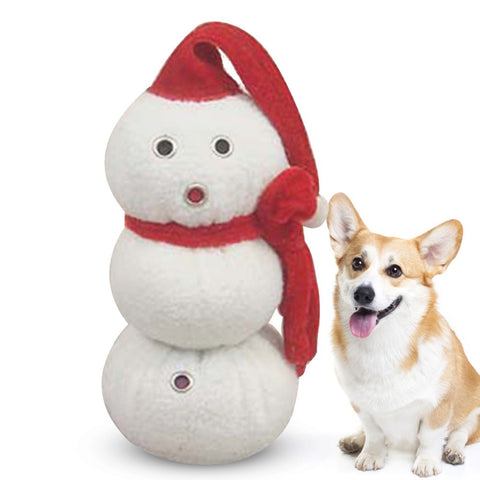 Image of Christmas Dog Toys /Snowman Shaped Sound Toys -  Sport Pet Shop