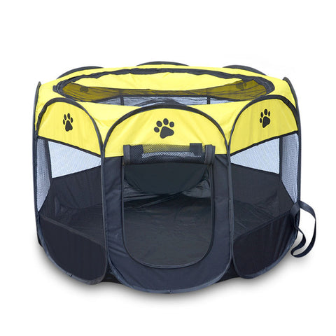 Image of Portable Folding  Dog /Cat House Cage Playpen