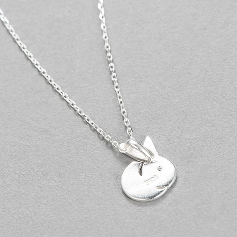 Image of 925 Sterling Silver Bunny Rabbit Necklace -  Sport Pet Shop