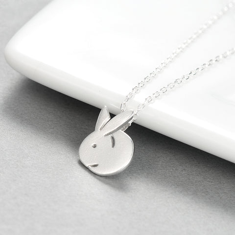 925 Sterling Silver Bunny Rabbit Necklace