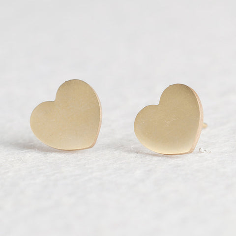 Women Golden Cute Stud Earrings