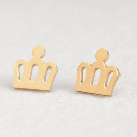 Image of Women Golden Cute Stud Earrings -  Sport Pet Shop