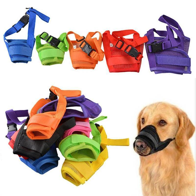 Adjustable Nylon Soft Dog Mouth Muzzle -  Sport Pet Shop