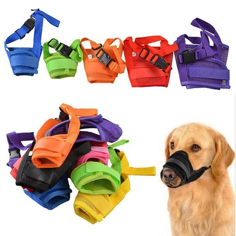 Image of Adjustable Nylon Soft Dog Mouth Muzzle -  Sport Pet Shop