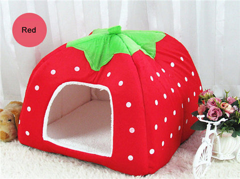 Image of Fashion Soft Dog House/Bed Strawberry Shape