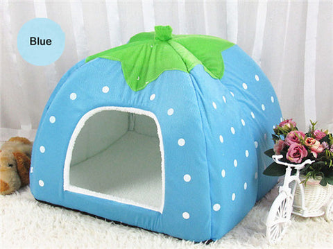 Image of Fashion Soft Dog House/Bed Strawberry Shape -  Sport Pet Shop